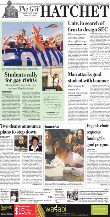 Front page for Oct. 12, 2009
