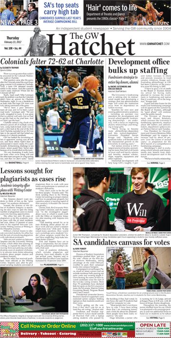 Front page for Feb. 23, 2012