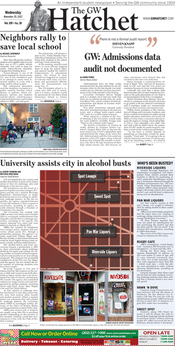 Front page for Nov. 29, 2012