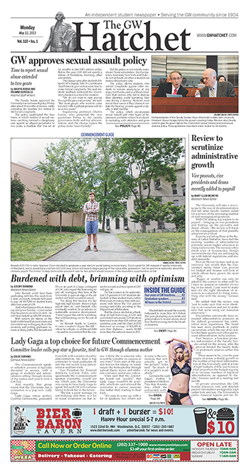 Front page for May 13, 2013