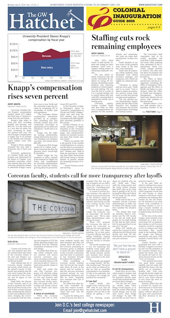 Front page for June 6, 2016